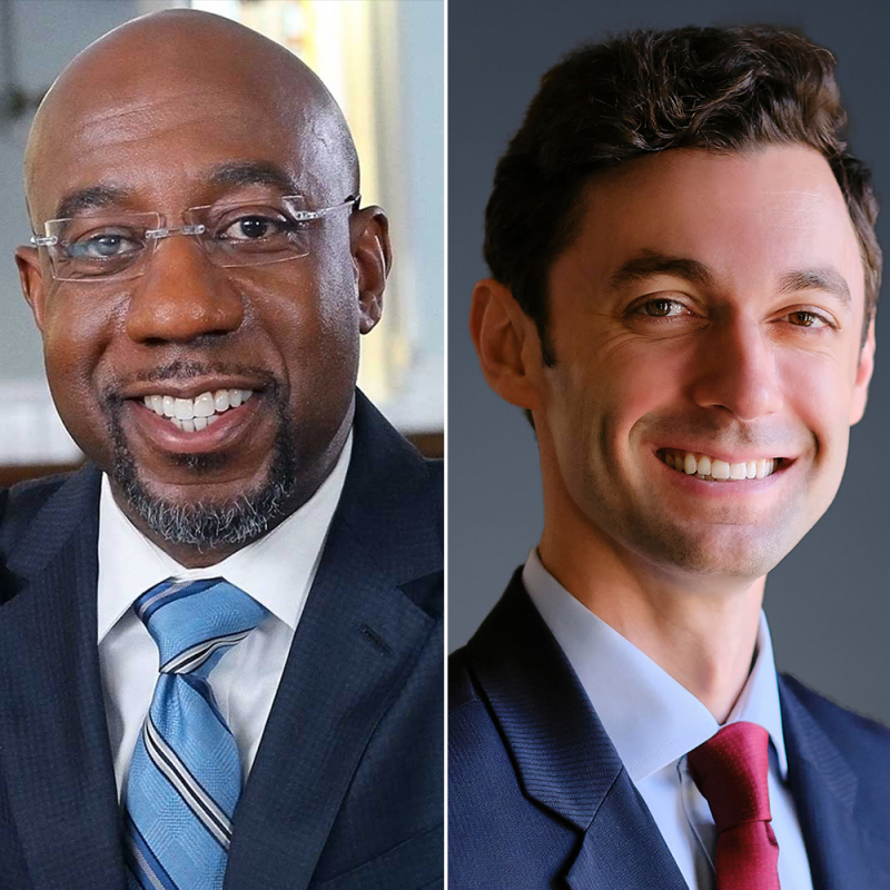 Jon Ossoff and Raphael Warnock